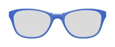 μπλε λευκό γυαλιών ανασκόπησης Στοκ Εικόνες