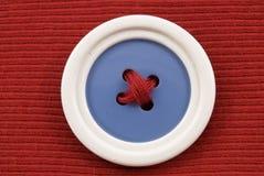 μπλε λευκό κουμπιών Στοκ Φωτογραφίες