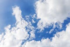 μπλε λευκό ουρανού σύννεφων 1 ανασκόπηση καλύπτει το νεφελώδη ουρανό Στοκ εικόνες με δικαίωμα ελεύθερης χρήσης