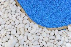 μπλε λευκό πετρών σχοινιών ανασκόπησης Στοκ Εικόνες