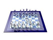 μπλε λευκό σκακιερών ελεύθερη απεικόνιση δικαιώματος