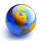 μπλε λευκό σφαιρών γυαλ&i Στοκ Εικόνα