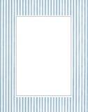 μπλε λευκό φωτογραφιών πλαισίων Στοκ Εικόνα