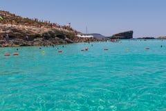 Μπλε λιμνοθάλασσα Comino στοκ εικόνες με δικαίωμα ελεύθερης χρήσης