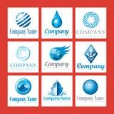 μπλε λογότυπα επιχείρησ&e Στοκ Φωτογραφία