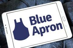 Μπλε λογότυπο υπηρεσιών εξαρτήσεων γεύματος ποδιών Στοκ Εικόνες