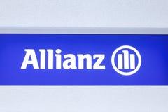Μπλε λογότυπο ALLIANZ Στοκ φωτογραφία με δικαίωμα ελεύθερης χρήσης