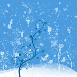 Μπλε λουλουδιών Grunge Στοκ Φωτογραφία