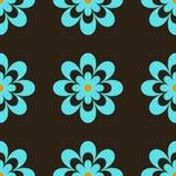 μπλε λουλούδια αναδρομικά ελεύθερη απεικόνιση δικαιώματος