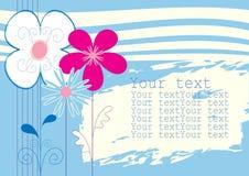 μπλε λουλούδια ανασκόπ&e διανυσματική απεικόνιση