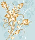 μπλε λουλούδια ανασκόπ&e Στοκ εικόνα με δικαίωμα ελεύθερης χρήσης
