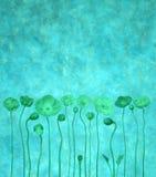 μπλε λουλούδι ανασκόπη&sig απεικόνιση αποθεμάτων