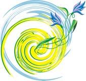 μπλε λουλούδι διανυσματική απεικόνιση