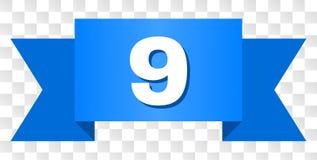 Μπλε λωρίδα με το κείμενο 9 απεικόνιση αποθεμάτων