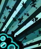 μπλε λωρίδες μουσικής Στοκ Εικόνα