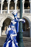 μπλε μάσκες venitian Στοκ Φωτογραφία