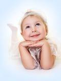 μπλε μάτια αγγέλου Στοκ εικόνα με δικαίωμα ελεύθερης χρήσης