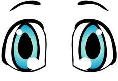 Μπλε μάτια με τη μαύρη γραφική απεικόνιση φρυδιών ελεύθερη απεικόνιση δικαιώματος