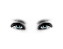 μπλε μάτια Στοκ φωτογραφία με δικαίωμα ελεύθερης χρήσης