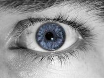 μπλε μάτι κινηματογραφήσεων σε πρώτο πλάνο Στοκ φωτογραφίες με δικαίωμα ελεύθερης χρήσης