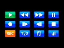 μπλε μέσα κουμπιών Στοκ φωτογραφία με δικαίωμα ελεύθερης χρήσης