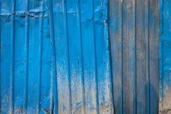 μπλε μέταλλο Στοκ Εικόνες