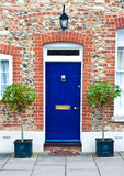 μπλε μέτωπο πορτών Στοκ Φωτογραφίες