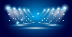 μπλε μαγικά επίκεντρα ακτ Στοκ φωτογραφία με δικαίωμα ελεύθερης χρήσης