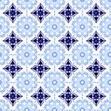 Μπλε μαλακή και σκοτεινή όμορφη διακοσμητική ασιατική βασιλική Floral εκλεκτής ποιότητας ταπετσαρία σύστασης σχεδίων ανοίξεων αφη Στοκ Εικόνες