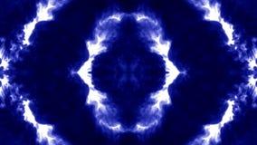 Μπλε μελάνι στο νερό στο άσπρο υπόβαθρο τρισδιάστατο μελάνι ζωτικότητας με τη μεταλλίνη luma ως άλφα κανάλι για τα αποτελέσματα ή διανυσματική απεικόνιση
