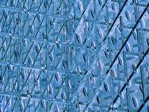 μπλε μεταλλικό πρότυπο Στοκ εικόνα με δικαίωμα ελεύθερης χρήσης