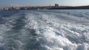 Μπλε μεταφορά θάλασσας και πορθμείων απόθεμα βίντεο