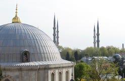 Μπλε μιναρή μουσουλμανικών τεμενών, Ιστανμπούλ, Τουρκία στοκ φωτογραφία