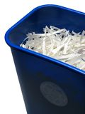 μπλε μονοπάτι ψαλιδίσματος δοχείων ανακύκλωσης Στοκ Εικόνες