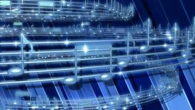 Μπλε μουσικός βρόχος σημειώσεων διανυσματική απεικόνιση