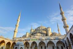 Μπλε μουσουλμανικό τέμενος (μουσουλμανικό τέμενος του Ahmed σουλτάνων), Ιστανμπούλ, Τουρκία Στοκ Φωτογραφίες