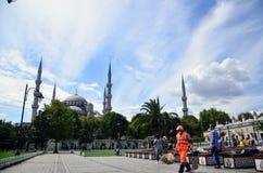 Μπλε μουσουλμανικό τέμενος στη Ιστανμπούλ στοκ φωτογραφίες
