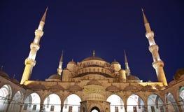 Μπλε μουσουλμανικό τέμενος Στοκ εικόνες με δικαίωμα ελεύθερης χρήσης