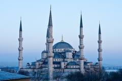 Μπλε μουσουλμανικό τέμενος. Στοκ Εικόνα