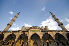 μπλε μουσουλμανικό τέμενος Στοκ Εικόνες