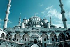 μπλε μουσουλμανικό τέμε Στοκ Εικόνα
