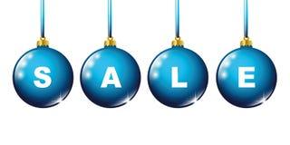 Μπλε μπιχλιμπιδιών Χριστουγέννων πώλησης που χρωματίζεται απεικόνιση αποθεμάτων