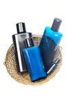μπλε μπουκάλια Στοκ Εικόνα