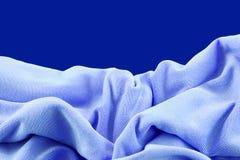 Μπλε νάυλον πτυχές υφάσματος Στοκ Εικόνες