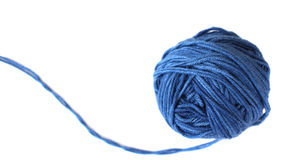 μπλε νήμα σφαιρών Στοκ Εικόνες