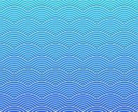 Μπλε ναυτικό διανυσματικό curvy σχέδιο κυμάτων διανυσματική απεικόνιση