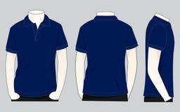 Μπλε ναυτικό πουκάμισο Vecor πόλο για το πρότυπο ελεύθερη απεικόνιση δικαιώματος