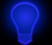 μπλε να λάμψει lightbulb Στοκ Φωτογραφίες