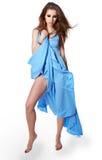 μπλε νεολαίες γυναικών φορεμάτων Στοκ Φωτογραφίες