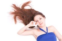 μπλε νεολαίες γυναικών στοκ εικόνα